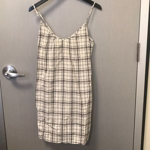 James Perse Plaid Spaghetti Strap Dress Size 3 (L)